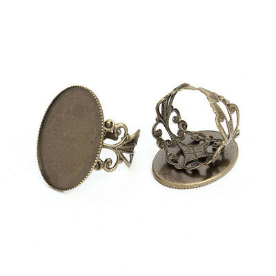 10pcs/lot Copper Blank Adjustable Rings Base Cabochon Tray Jewelry Findings