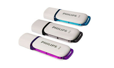 Philips USB 2.0 Snow Edition Flash Drive - 16GB|32GB|64GB - Blue|Green|Purple