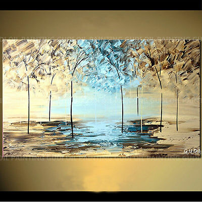 ZWPT371 modern charm landscape 100% hand-painted wall art oil painting on canvas