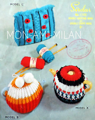 Vintage 1950s Knitting Pattern To Make Traditional Tea Cosies Cosy