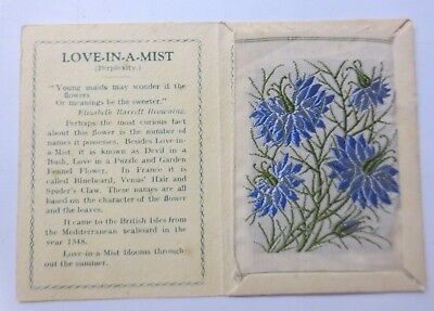 KENSITAS FLOWERS, Love in a Mist seitenblumen, Embroider, 1934 (61153)