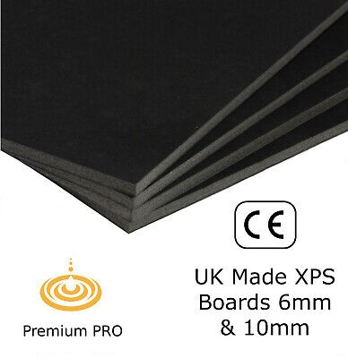 XPS Boards Floor Underlay Thermal Insulation Underfloor Heating (BLK)