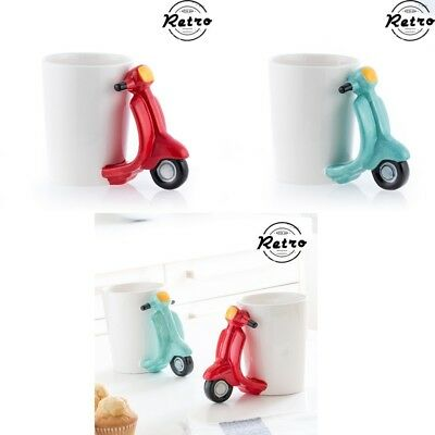 Taza 350 ml diseño Scooter con asa Retro vintage, regalo, menaje, decoración