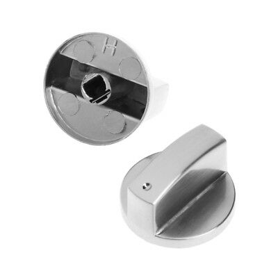 2Pcs Universal Cooker Oven Stove Gas Control Range Switch Knob Replacement Metal