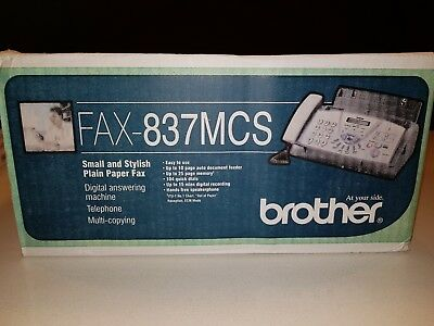 Brother Printer Plain Paper 837MCS Fax Machine Phone Fax Copier BNIB + refills