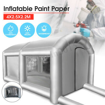Inflatable Giant Car Workstation Spray Paint Tent Paint Booth Custom 4x2.5x2.2m