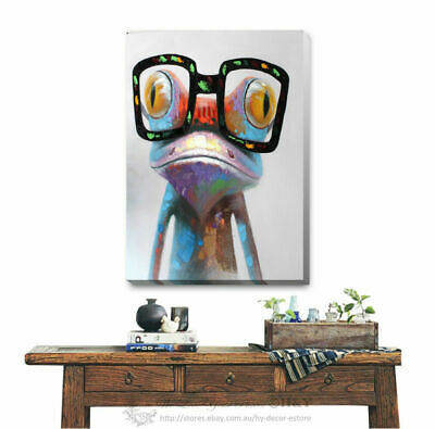 Frog Stretched Canvas Print Framed Wall Art Home Office Shop Decor DIY Gift A344