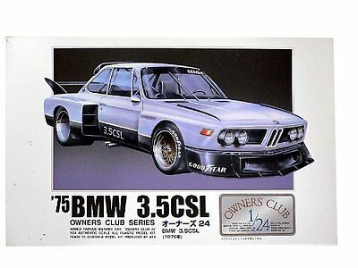 Microace Arii Owners Club 1/24 08 1977 BMW 3.5CSL from Japan