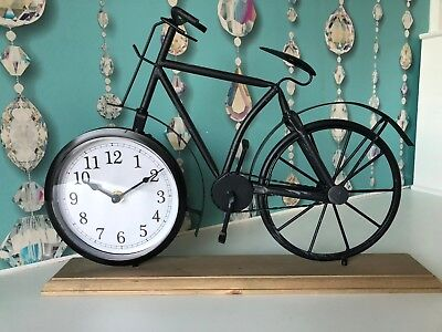 New Vintage Bicycle Table Clock Vintage Metal Side Table Mantel Clock On Wood