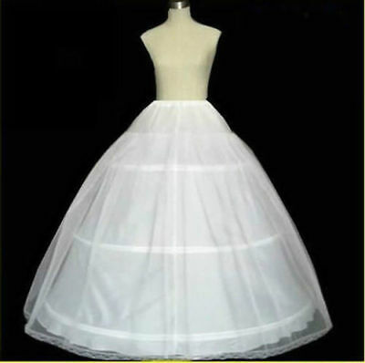 3 Hoop Underskirt Party Prom Wedding Bridal Crinoline Petticoat Dress Slip Skirt