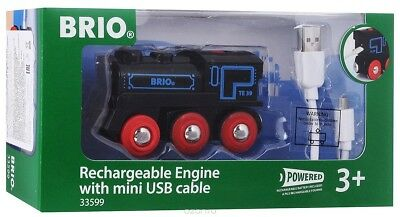 BRIO 33599 Lokomotive, Rechargeable Engine with mini USB cable