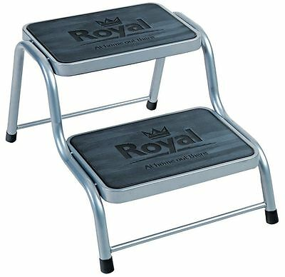 Royal Deluxe Double Steel Step Twin Non Slip Tread Caravan Motorhome 4 x 4