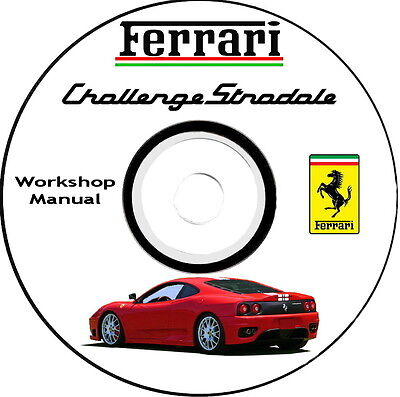 Workshop Manual,FERRARI 360 Challenge Stradale,Manuale Officina.