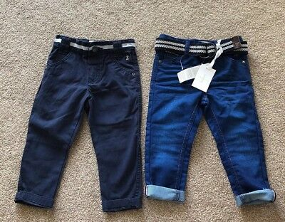 Two Pairs Of Jasper Conran Trousers, One New With Tags. Boy, 12-18 Months.