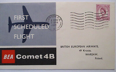 BEA first flight Comet 4 B GREAT BRITAIN POLAND 1960 (208)