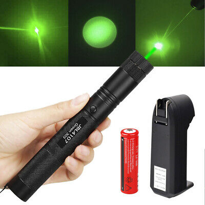 20Miles 532nm 303 Green Laser Pointer Lazer Pen Visible Beam Light+18650+Charger