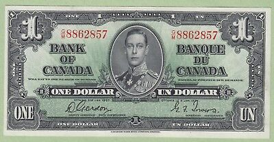 1937 Bank of Canada One Dollar Note - Gordon/Towers - G/M8862857 - UNC
