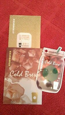 Very NICE Starbucks CHINA Cold Brew Die Cut Gift Card w/Insert & Sleeve