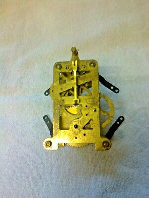 Clock  Parts ,  Brass  Clock Movement, Single  Train