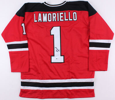 c0b9a2d9002 Lou Lamoriello Signed Devils Jersey (Beckett) Pres.Hockey Operations  (1987-2015