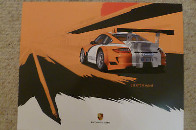 2011 Porsche 911 GT3 R Hybrid Showroom Advertising Poster RARE!! Awesome L@@K