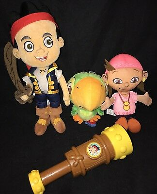 Disney Store Plush Jake & Skully And The Neverland Pirates Telescope Izzy Lot