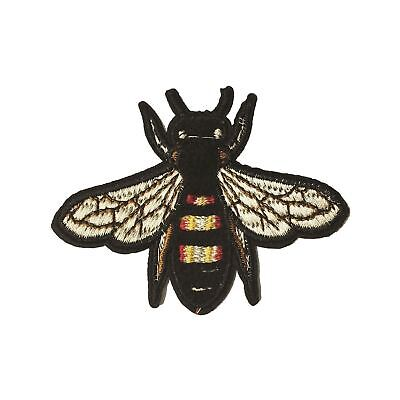 Bee / Fly /Bug M (Iron on) Embroidery Applique Patch Sew Iron Badge