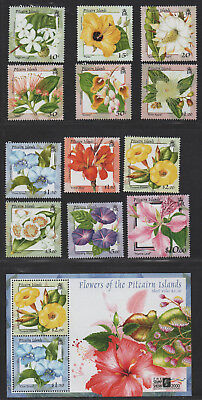 $Pitcairn Is. Sc#512-523, 520a M/NH/VF, complete set, Flowers, Cv. $34.75