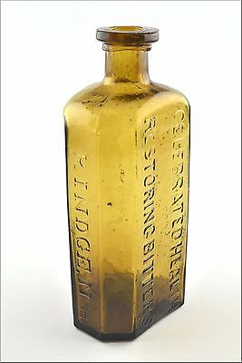 Stoddard  Dr. Stephen Jewett's Celebrated Health Restoring Bitters Bottle