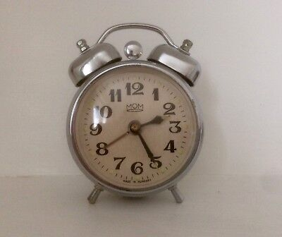 Vintage MOM alarm clock - Made in Hungary - Excellent Condition
