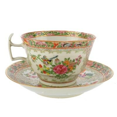 19th C Japanese Large Tea Cup and Saucer