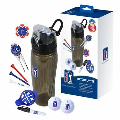 Golf Gift Set PGA Tour: Golfing Drinks Bottle, Accessories & Golfer Training DVD