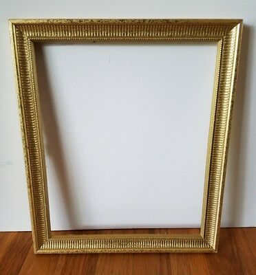 10x12 Vintage Frame Ornate Hang Baroque Rococo Antique Gold Leaf Rectangle