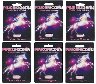 6 x Pills Pink Unicorn Woman Sexual Enhancer just $6.50 for 1 Pill NO SALE TAX