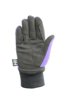 (Black/Sky Blue, Child X-Large) - Hy5 Childrens Winter Two Tone Riding Gloves