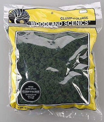 Woodland Scenics 184 Clump Foliage Dark Green (3 Quart Bag) NEW
