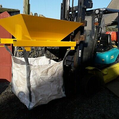 BULK BAG TONNE BAG HOPPER aggregates logs skip woodchip waste grab