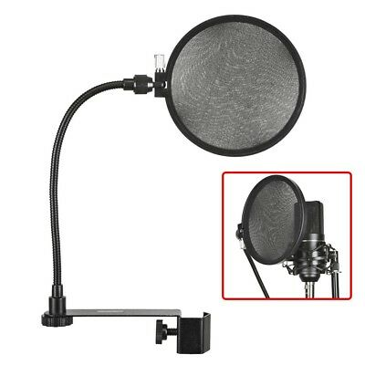 Microphone Mic Pop Filter Wind Screen Mask Shield Double Layer Studio Recording