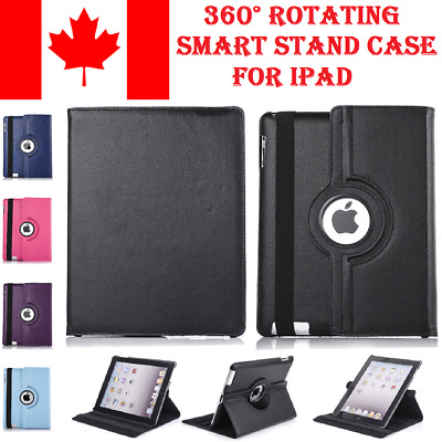 360 Rotating PU Leather Case Smart Stand Cover for Apple iPad Air 2 3/4 Mini Pro