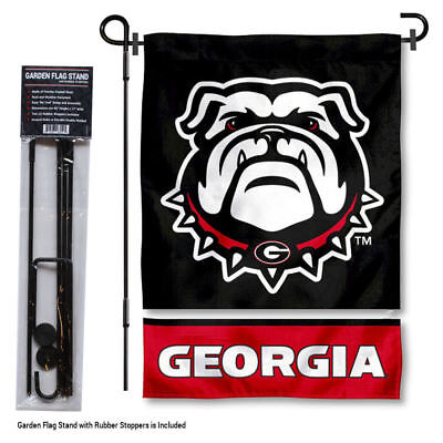Georgia Bulldogs Garden Flag and Yard Stand Included