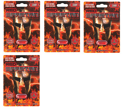 4 x Pills Red Spartan 3000 Man Male Sexual Enhancer just $8.70 for 1 Pill NO TAX