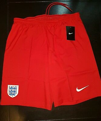Men's Nike England red sport gym training Shorts Football Soccer size M