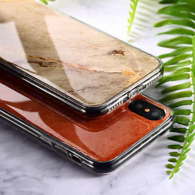 Deluxe hybrid Granite Marble Stone Effect TPU Case For iPhone X 8 7 6s Plus