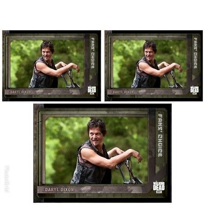 3x FAN'S CHOICE III WAVE 3 DARYL DIXON The Walking Dead Trader Digital Card