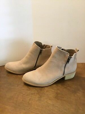 d3ba43e6eef SHESOLE WOMENS ANKLE Boots Suede Leather Booties Taupe US 10.5 Tan ...