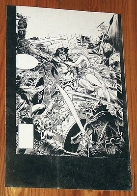 """Claw the Unconquered #14 cover art B&W Stat proof 11"""" X 17 Joe Kubert DC"""