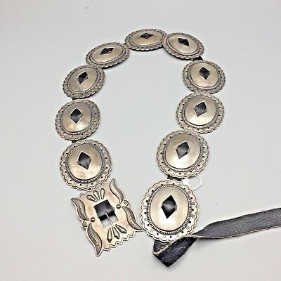 Older, First Phase Style, Sterling Silver Concho Belt