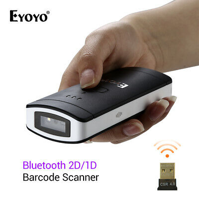 Eyoyo Wireless BTOOTH 2D/1D/QR Scan Barcode Scanner Bar Code Reader Handheld