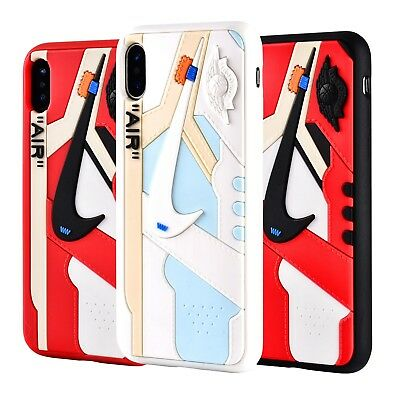 Hypebeast 3D Texture Off White AJ1 Chicago iPhone Cases Cover USA Seller