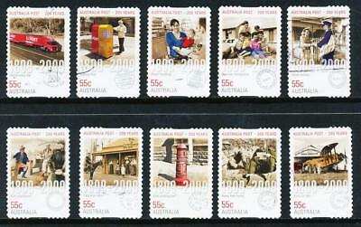 Australian 2009 Australia Post 200 Years, set of 10 S/A stamps, used